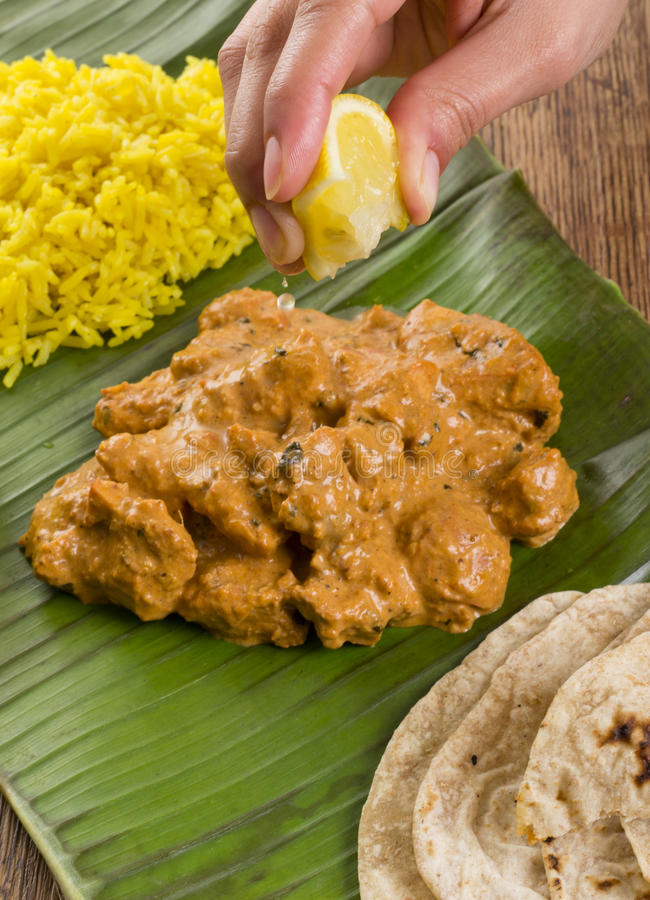 Download Butter Chicken & Lemon Rice Royalty Free Stock Photo - Image: 28285105