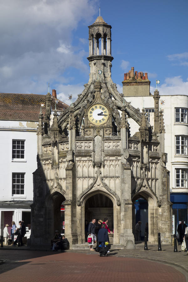 Butter Cross. The medieval Butter Cross in Chichester city centre, England stock photo