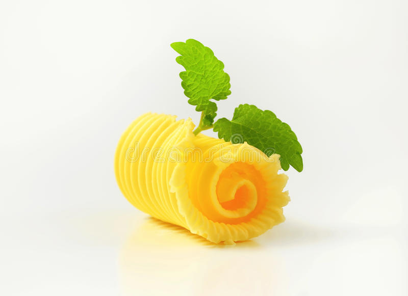 Butter curl. Studio shot of butter curl royalty free stock photo