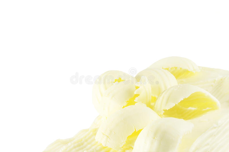Butter curler. Old-fashioned butter curler, creamy curls royalty free stock photos