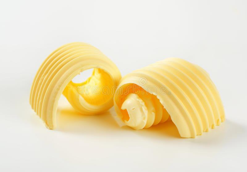 Butter curls stock photography