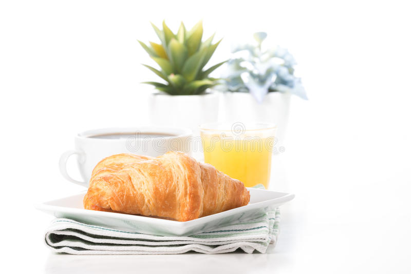 Butter Fresh Croissants royalty free stock photo