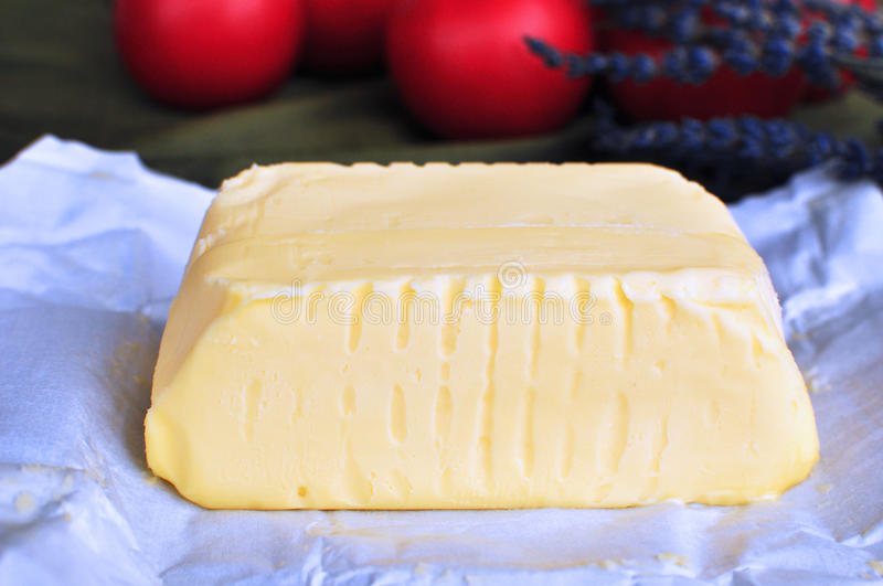 Butter. Gold medal butter made of raw milk called beurre de baratte in France stock images