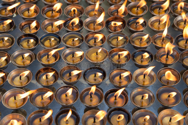 Butter Lamps Stock Images