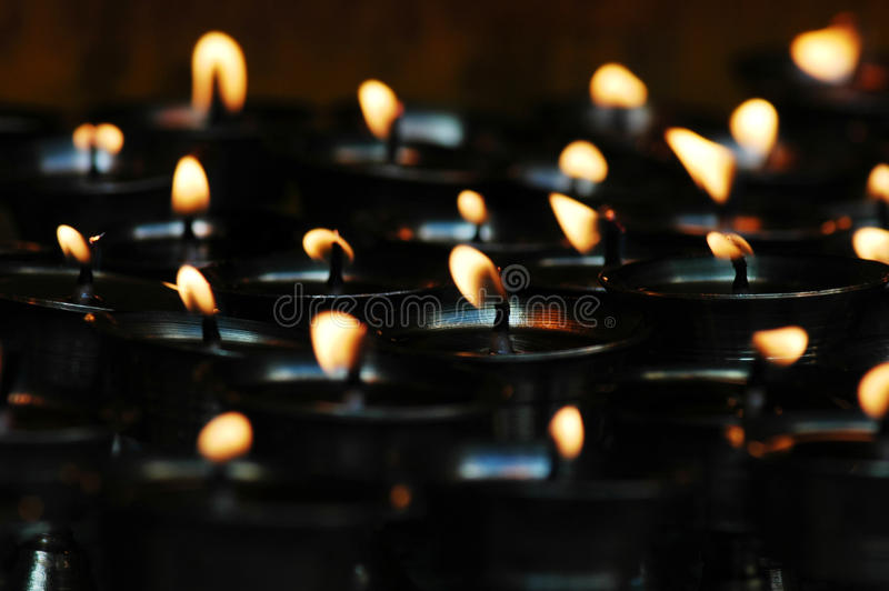 Butter lamps in Tibet royalty free stock photo