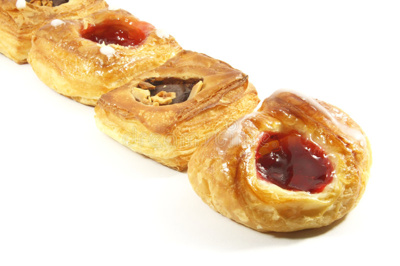 Butter Puff Pastry Danishes. Of the Assorted Kind royalty free stock images