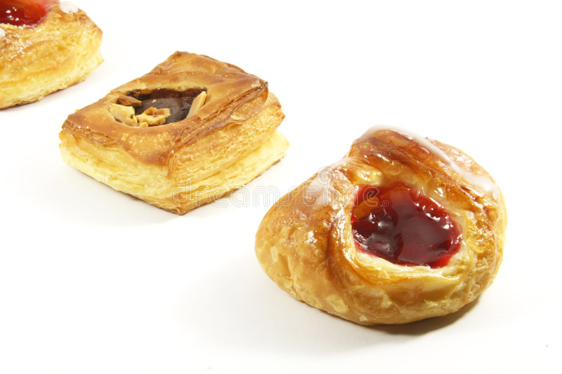 Butter Puff Pastry Danishes. Of the Assorted Kind royalty free stock photo