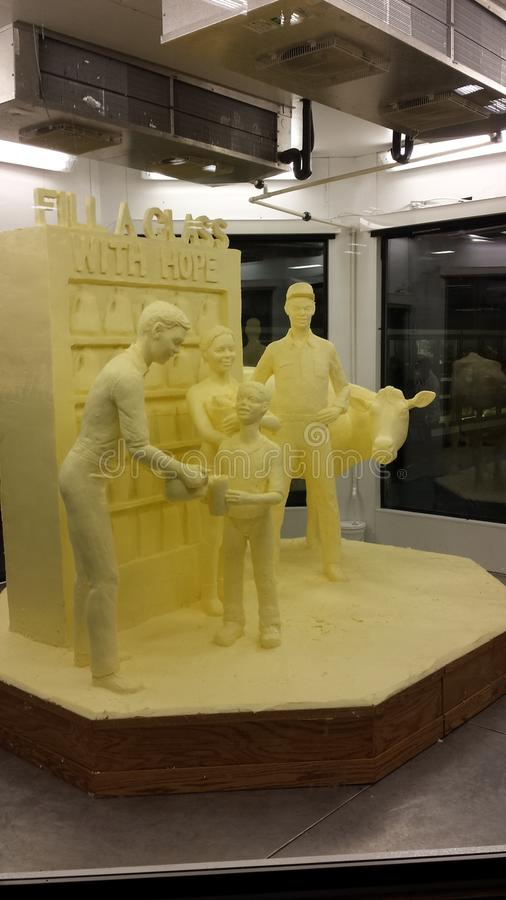 Butter Sculpture royalty free stock photography