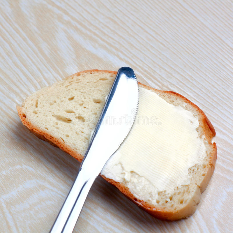Download Butter on a slice of bread stock image. Image of butter - 25391851