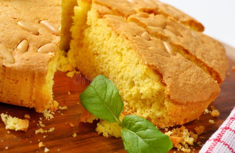 Butter sponge cake stock photography