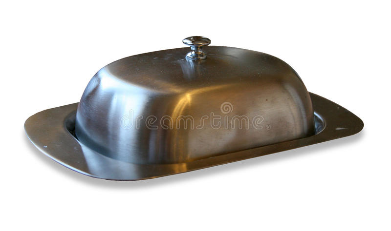 Butter tray stock photo