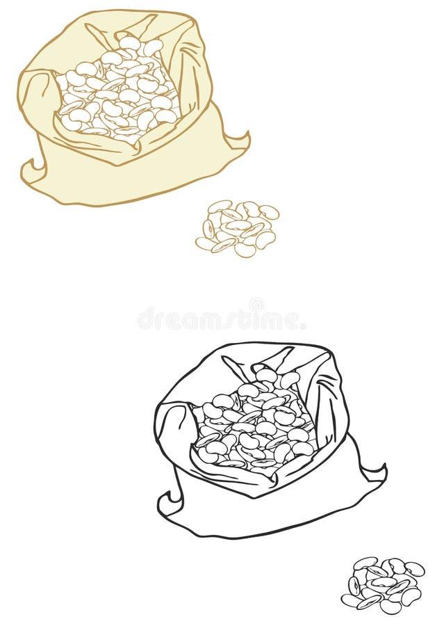 Butterbohnen stock abbildung