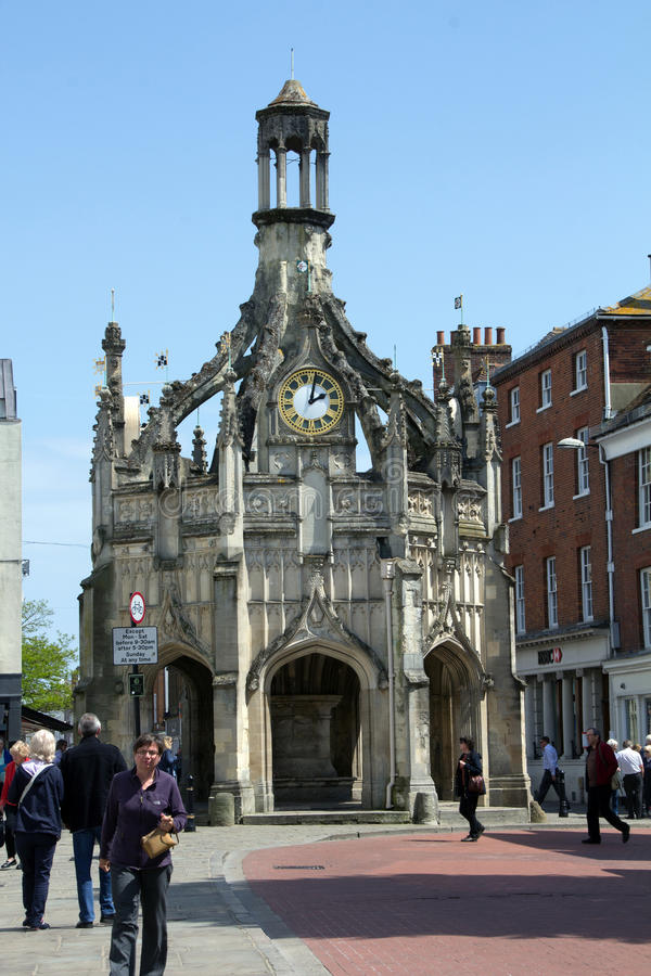 Buttercross. Chichester Cross is an elaborate Perpendicular market cross in the centre of the city of Chichester, West Sussex, standing at the intersection of stock photos