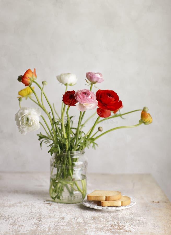 buttercupen blommar perser royaltyfri foto
