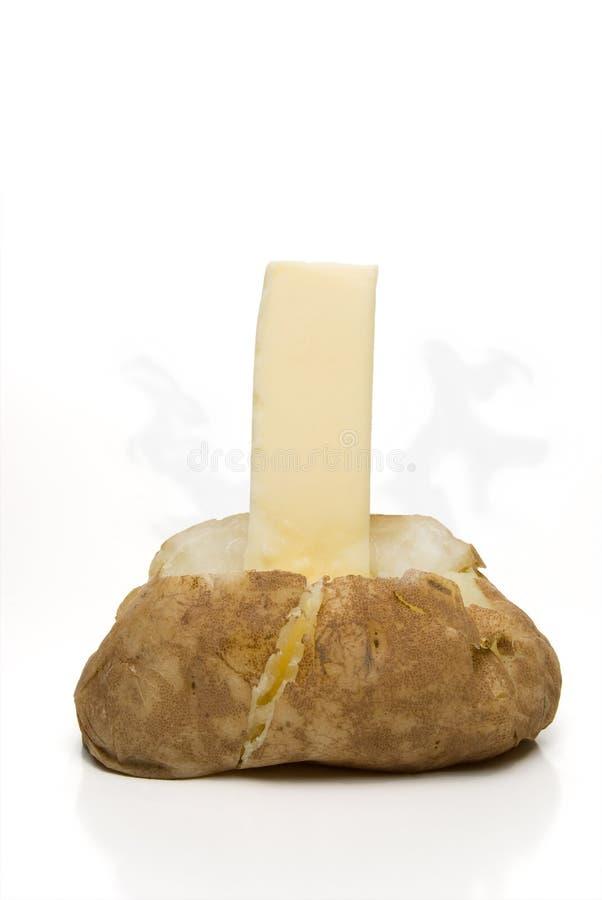 Butterd烘烤了与蒸汽的土豆 免版税库存图片