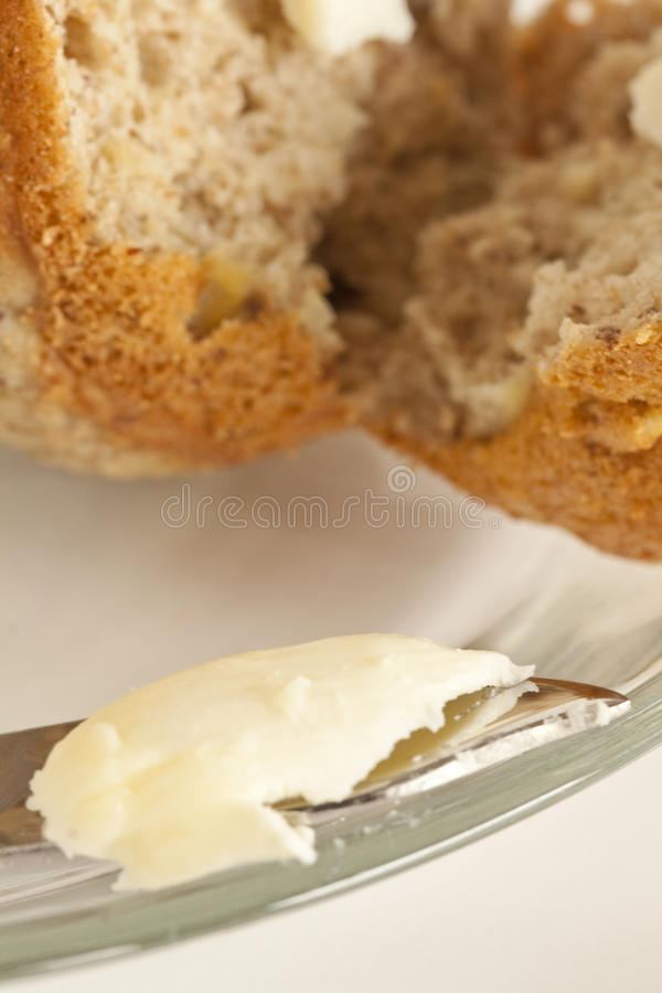 Buttered Muffin stock photos
