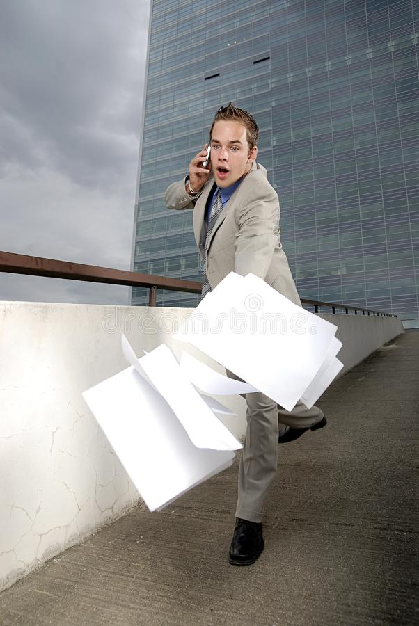 Butterfingers businessman royalty free stock photography