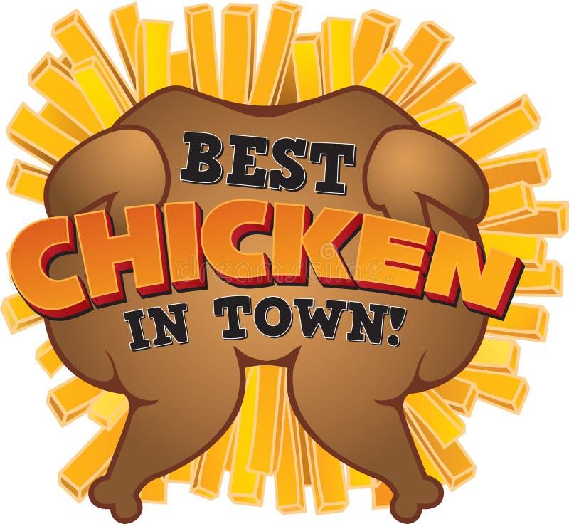 Najlepszy kurczak w miasteczku! royalty ilustracja