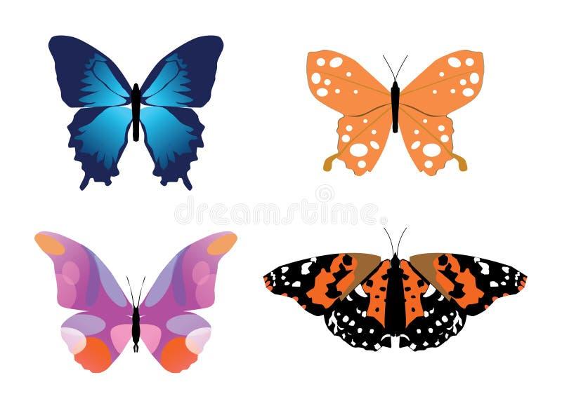 Download Butterflies stock vector. Image of creature, design, colorful - 14557196