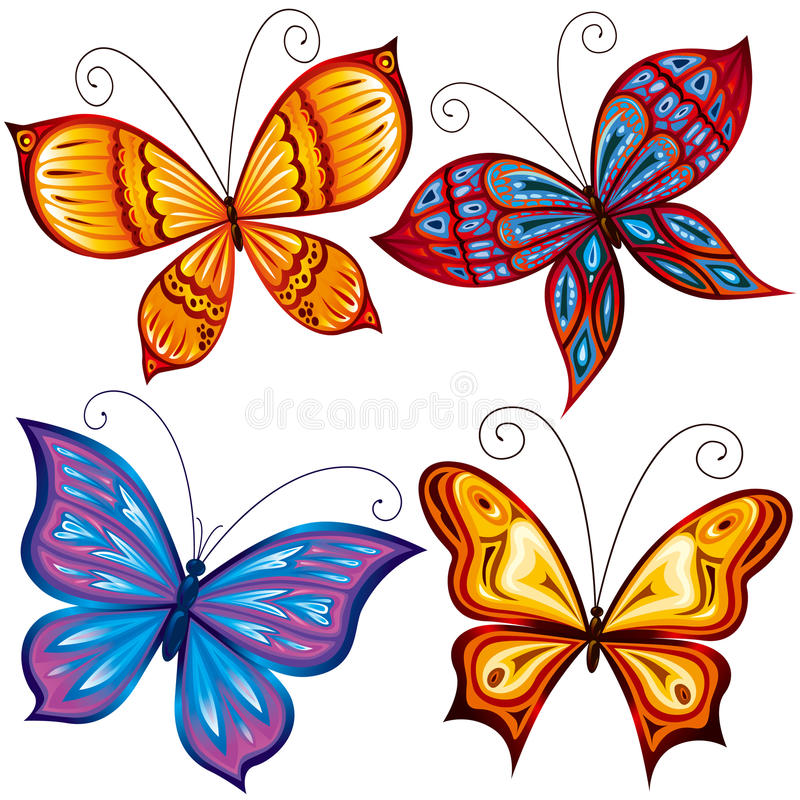Butterflies stock illustration