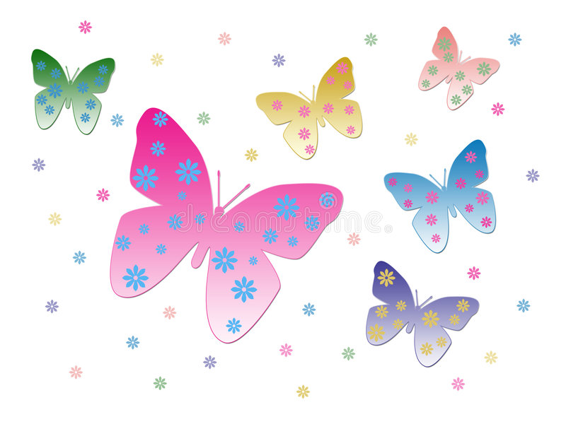 Download Butterflies stock illustration. Image of spring, graphic - 2913625