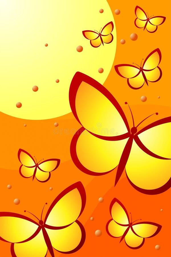 Butterflies royalty free illustration