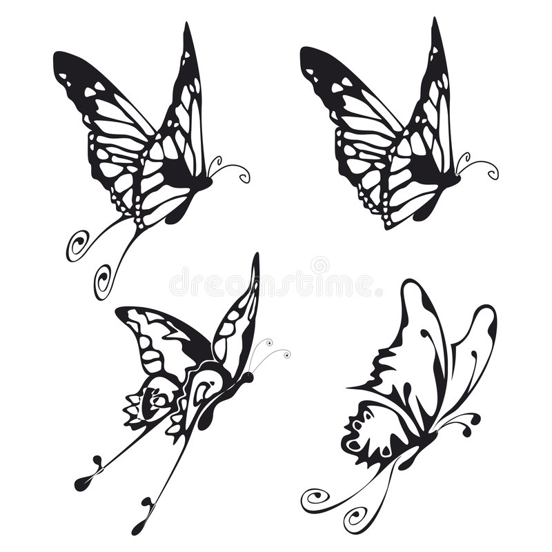 Download Butterflies stock illustration. Illustration of decorative - 6548837