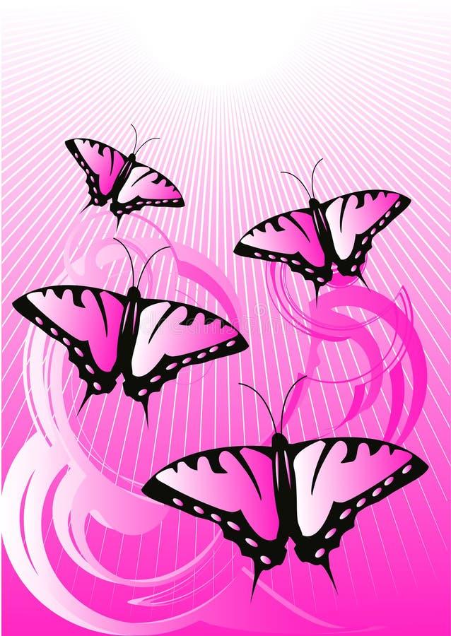 Butterflies stock illustration