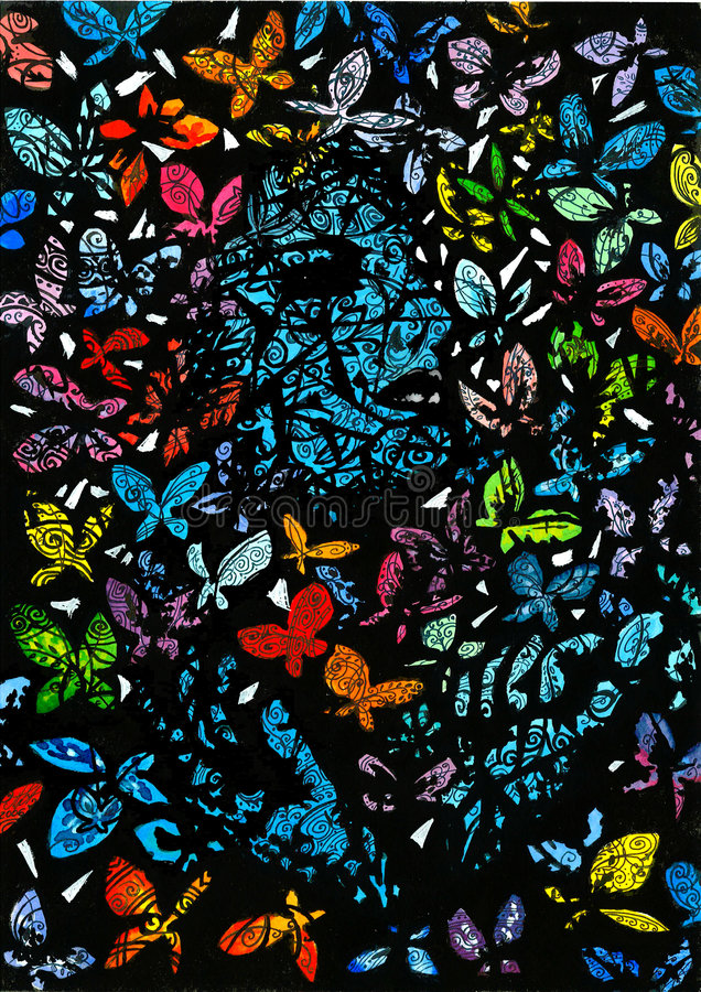 Download Butterflies stock illustration. Image of color, colorful - 8392673