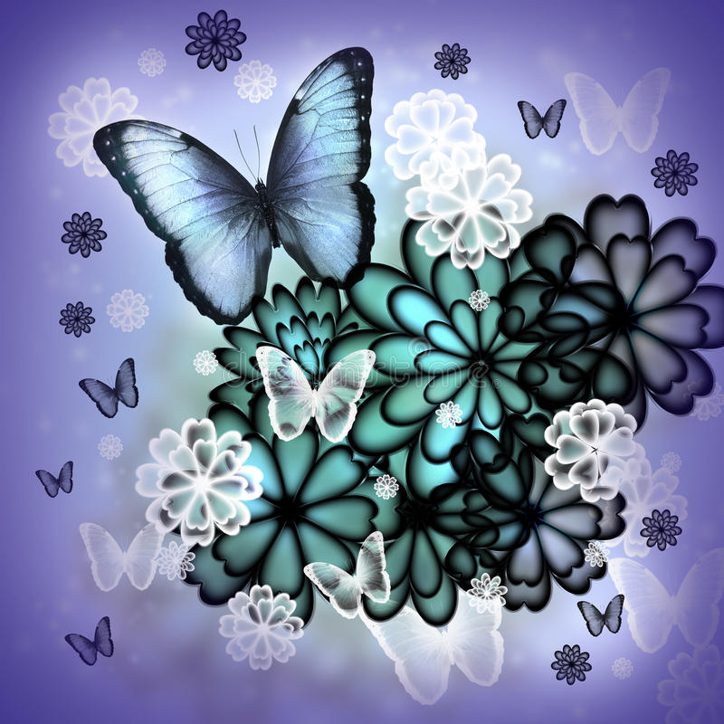 Download Butterflies And Blossoms Illustration Stock Illustration - Illustration: 28811590