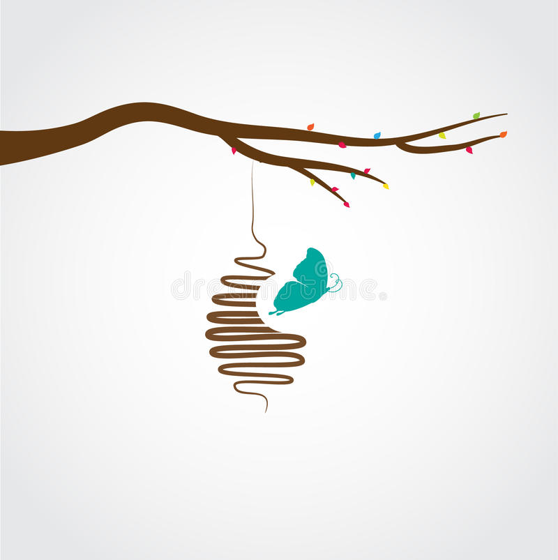 Free Butterflies Cocoon Stock Photography - 15970342