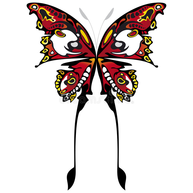 Download Butterflies color stock illustration. Image of natural - 6548784