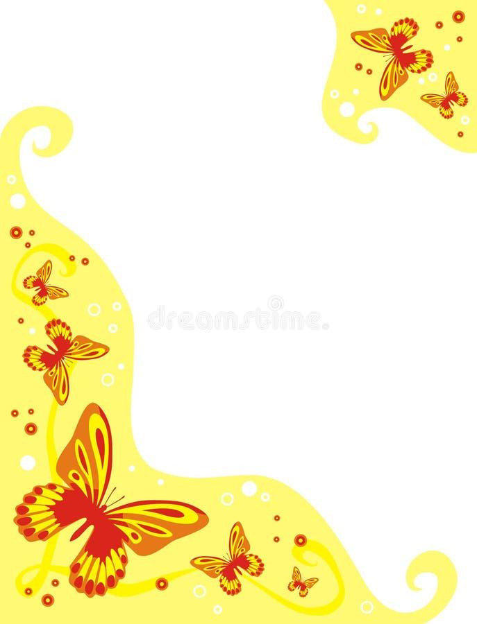 Butterflies frame stock photography