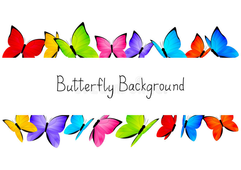 Butterflies frame with copy space vector illustration