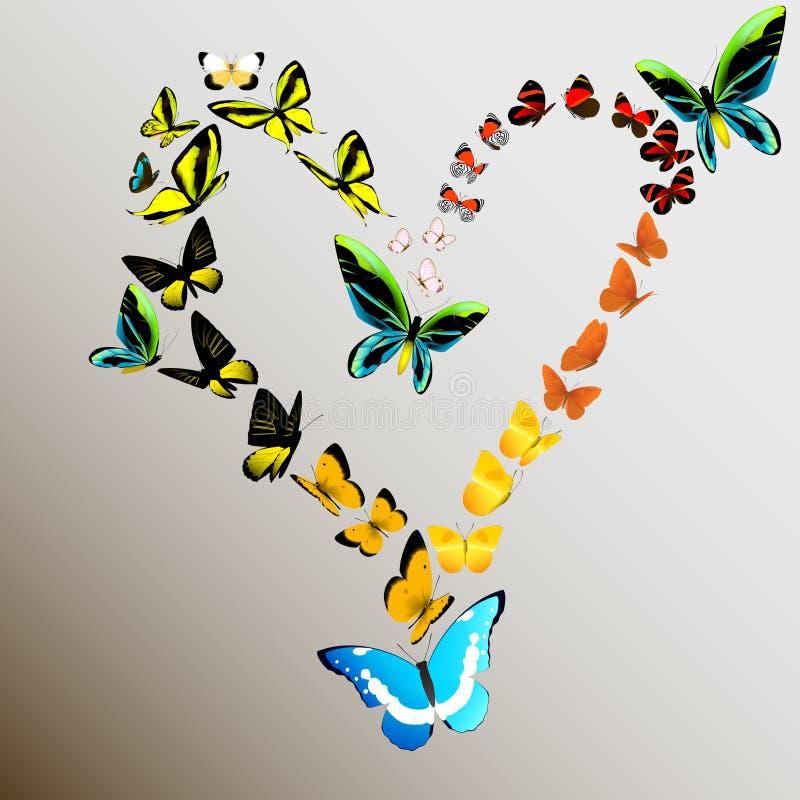 Download Butterflies stock illustration. Image of butterfly, flight - 35372533