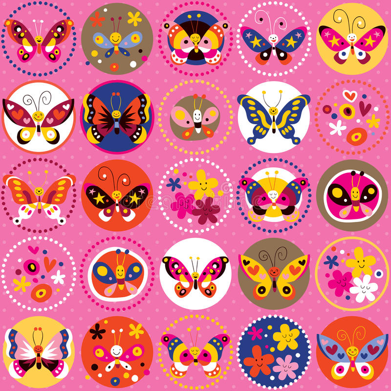 Download Butterflies pattern stock vector. Image of decor, butterflies - 28001010