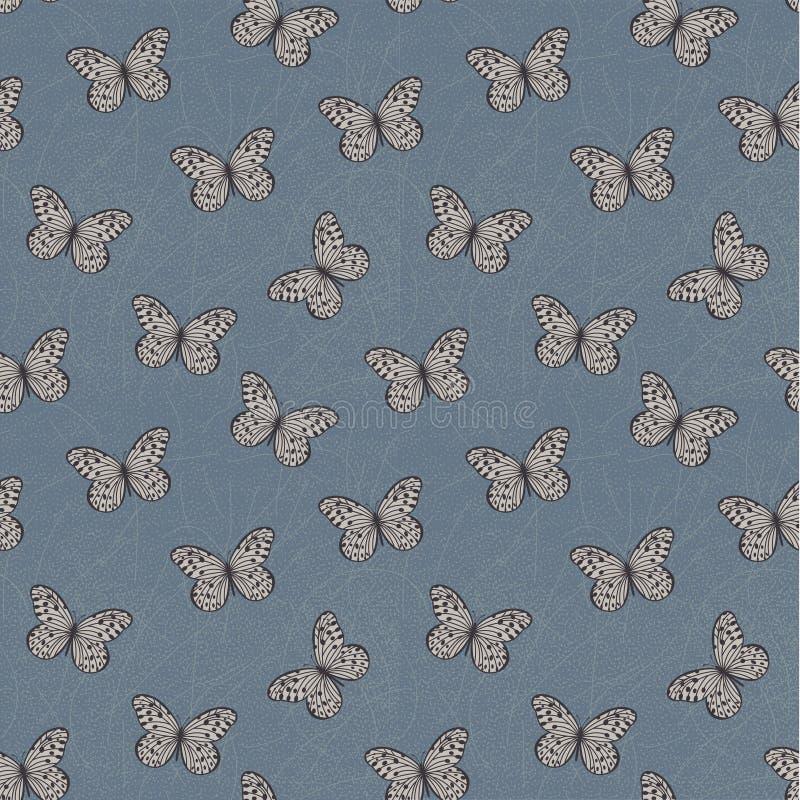 Damask Butterflies Pattern stock photo