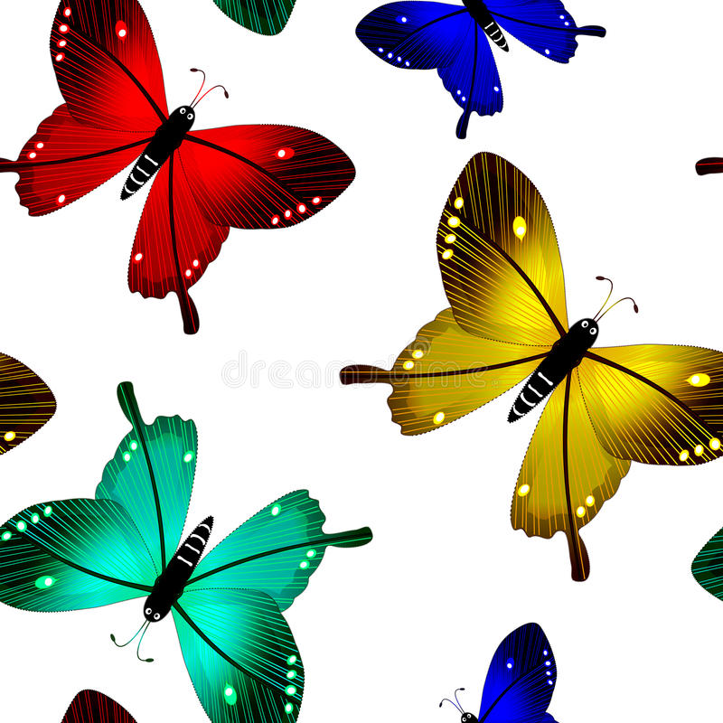 Butterflies seamless pattern royalty free stock photography