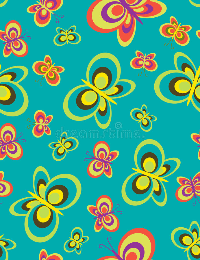 Download Butterflies Seamless Pattern Stock Image - Image: 8153611