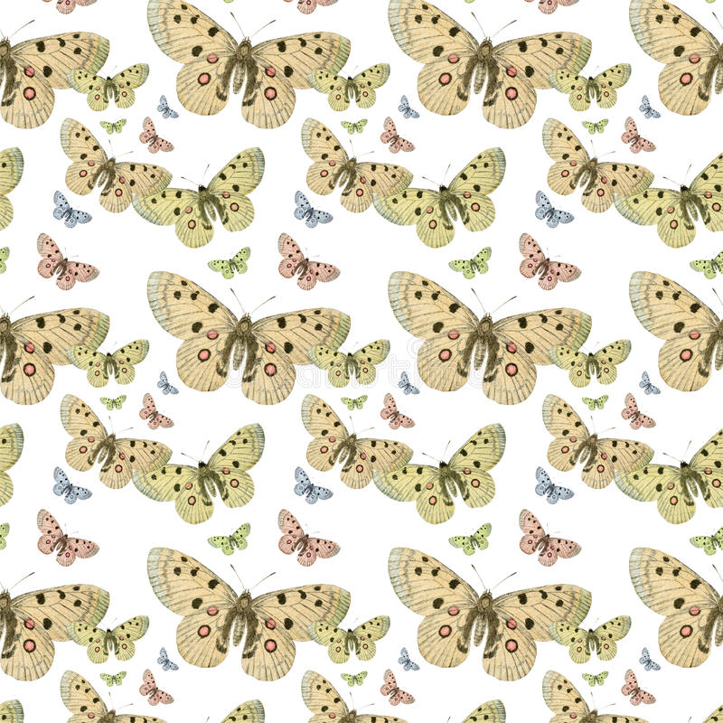 Butterflies seamless repeat pattern background royalty free stock photo