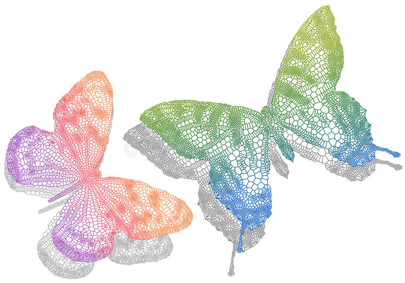 Download Butterflies With Shadow, Royalty Free Stock Images - Image: 18693329