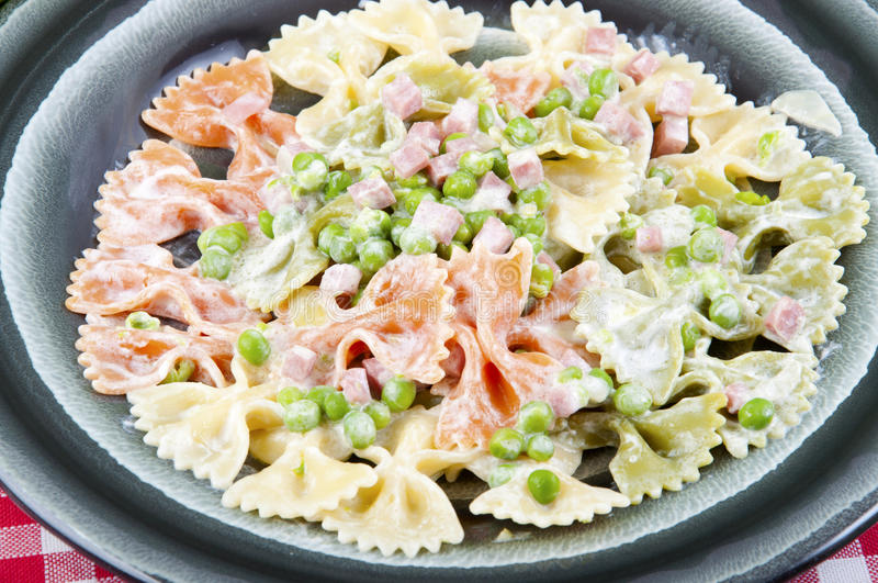 Download Butterflies Tricolor With Peas And Ham Stock Photo - Image of dining, proscitto: 25171194