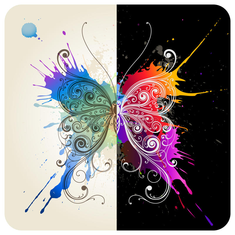 Download Butterfly stock vector. Image of decoration, creativity - 15617591