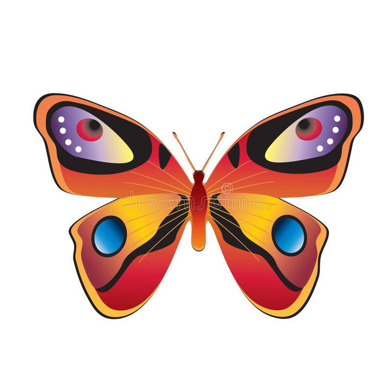 Download Butterfly. stock vector. Image of nature, white, replete - 19701295