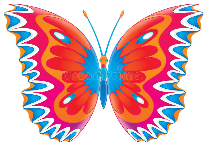 Butterfly. Isolated clip-art and children's illustration for yours design, postcard, album, cover, scrapbook, etc royalty free illustration