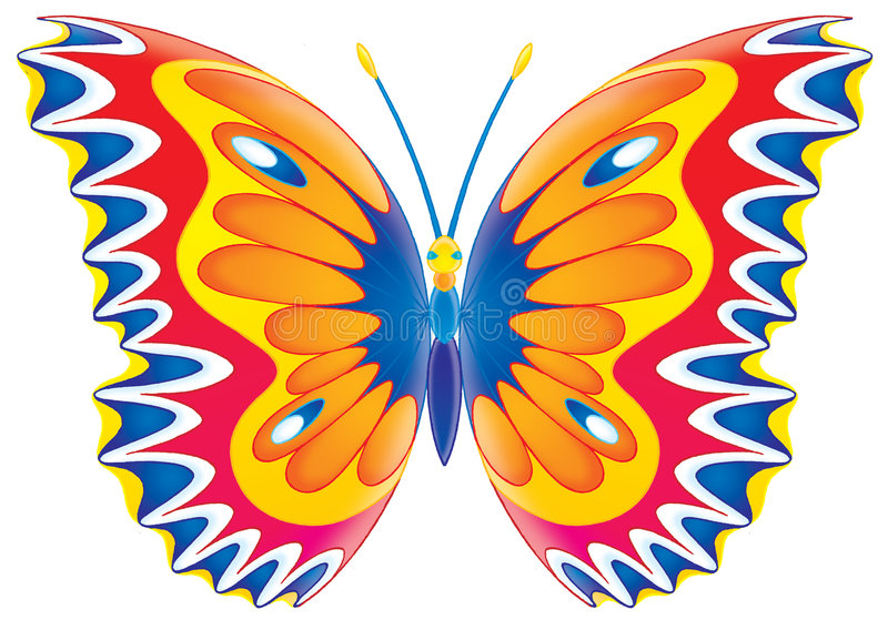 Butterfly. Isolated clip-art and children's illustration for yours design, postcard, album, cover, scrapbook, etc stock illustration