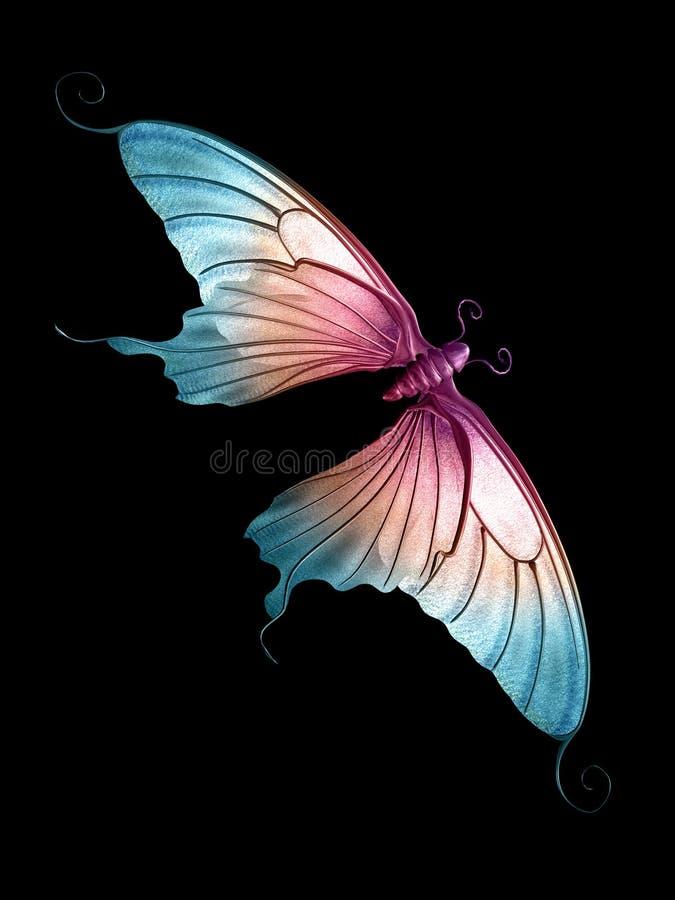 Butterfly 2 of 3. A beautiful butterfly in 3D
