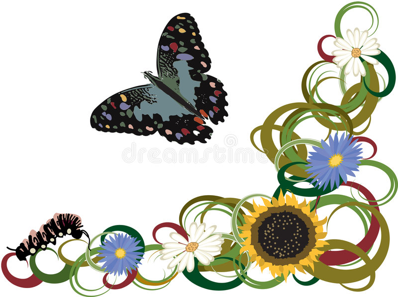 Download Butterfly stock vector. Illustration of whimsical, flowers - 2337653