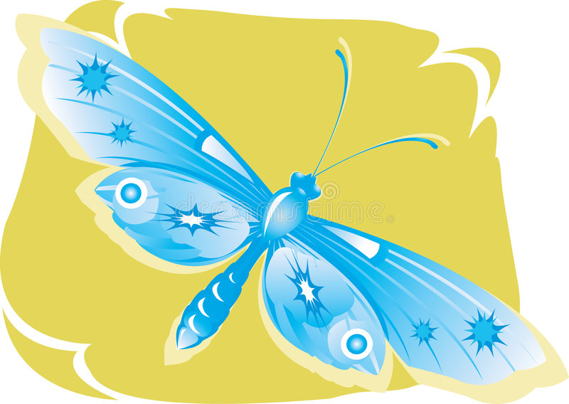 Butterfly. Beautiful butterfly in full fledge royalty free illustration