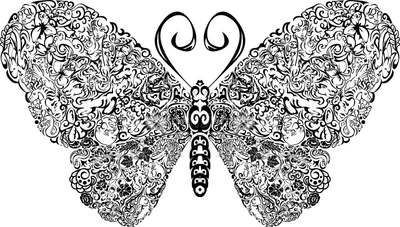 Download Butterfly stock vector. Image of image, antenna, nature - 2870943